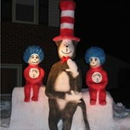 Cat in the Hat with Thing1 and Thing2