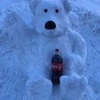 coca cola bear @ Breckenridge, CO