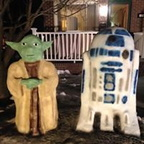 Yoda and R2D2